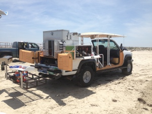 The ultimate beach truck has everything...( but no bathroom!?)