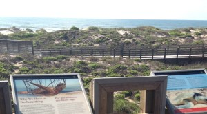 A view of the Gulf from the boardwalk at Padre Island National Seashore.