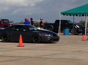 Mustang Cobra at the starting line