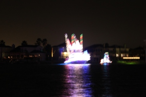 "Illuminated boats parade on Padre Island for ""La Posada""."