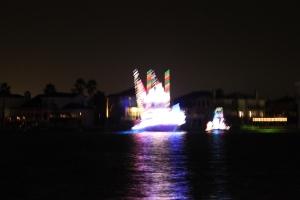 "Illuminated boats parade on Padre Island for ""La Posada""."