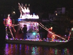 More lit-up boats at La Posada on Padre Island.
