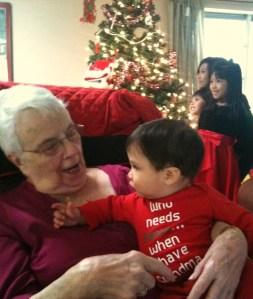 """Who needs Santa when you have Grandma,"""