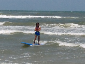 Already surfing like a pro!