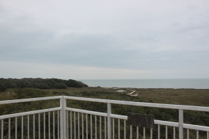 One of several observation decks at Aransas Wildlife Refuge.