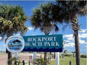 The entrance at Rockport Beach Park.